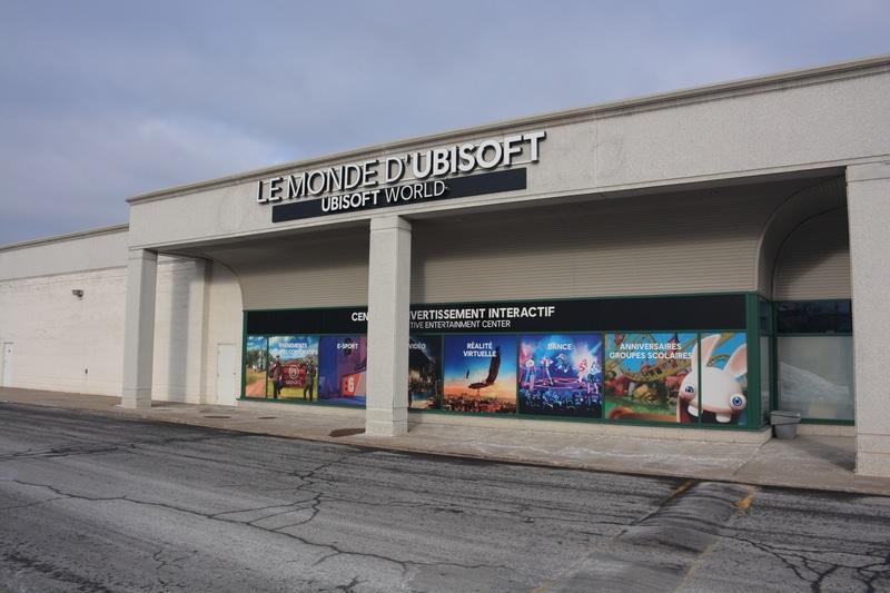 Ubisoft World backlit sign