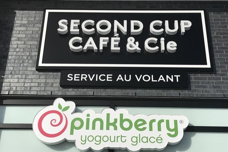 Second Cup backlit sign